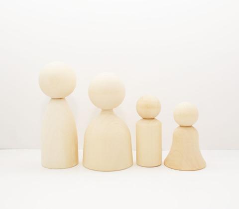 3771  Человечки, деревянная заготовка