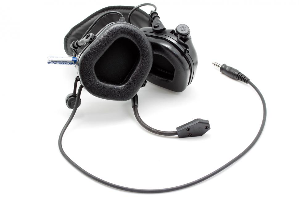 Наушники активные стрелковые Earmor c микрофоном и разъемом для тангенты 22-82 Дб