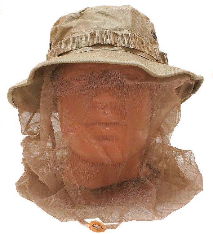 Шляпа Rothco Boonie с москитной сеткой (хаки)