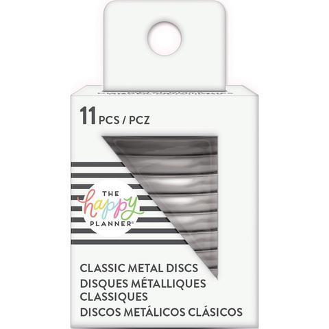 Диски металлические - (крепежный механизм для ежедневников) Happy Planner Expander (Medium- Classic) - Silver - 3.3 см