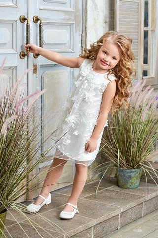 Белое нарядное платье (арт.04.06)