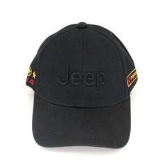 Кепка с вышитым логотипом Джип (Бейсболка Jeep) черная