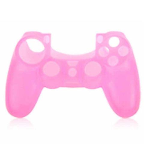 PS4 Чехол для геймпада DualShock 4 (розовый) + накладки
