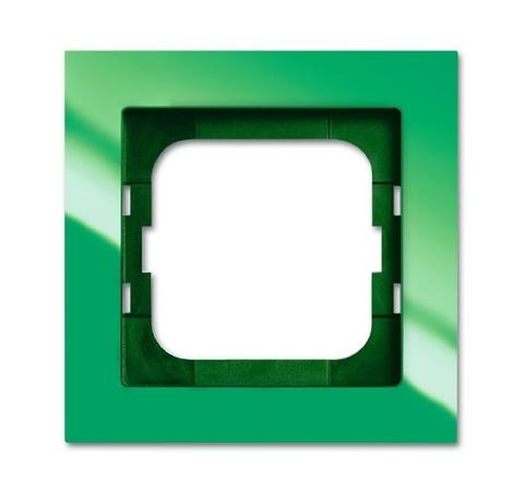 Рамка на 1 пост. Цвет Зелёный глянцевый. ABB(АББ). Axcent(Акcент). 1754-0-4337