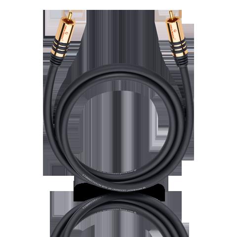 Oehlbach NF Sub black 1.0m, кабель сабвуферный