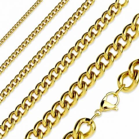 В наличии! Золотистая цепочка 51 см 6 мм SPIKES SNN02-06-20