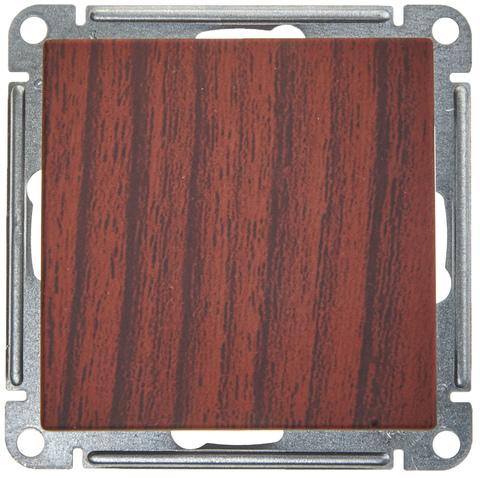 Выключатель одноклавишный, 16АХ. Цвет Морёный дуб. Schneider Electric Wessen 59. VS116-154-9-86