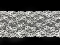 Кружево эластичное белое 20 см