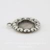 """Сеттинг - основа - подвеска """"Сердечки"""" для камеи или кабошона 7 мм (оксид серебра)"""