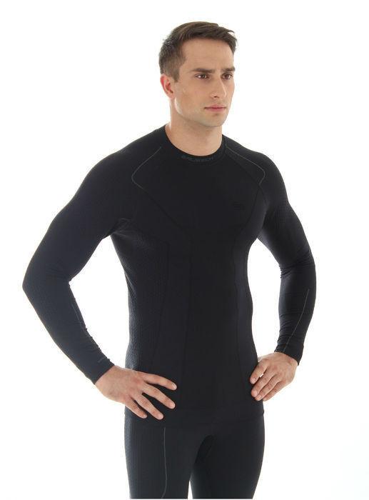 Термобелье рубашка Brubeck Thermo черная (LS10680) мужская