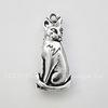 """Подвеска TierraCast """"Сидящая кошка"""" (цвет-античное серебро) 22х11 мм ()"""