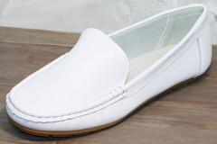 Кожаные женские мокасины AESD 902 White