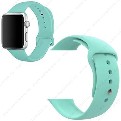 Ремешок для Apple Watch 38/ 40 mm силиконовый мятный