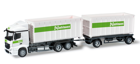 Herpa 303347 Грузовой автомобиль Mercedes-Benz Actros Streamspace 2.3 roll-off multibucket trailer