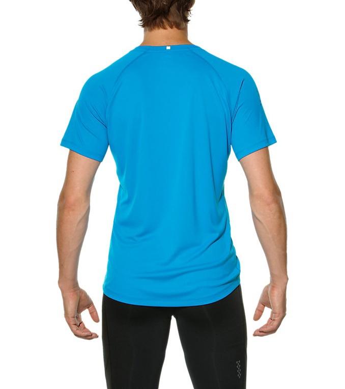 Мужская спортивная футболка для бега Asics Stripe SS (126236 0823) голубая