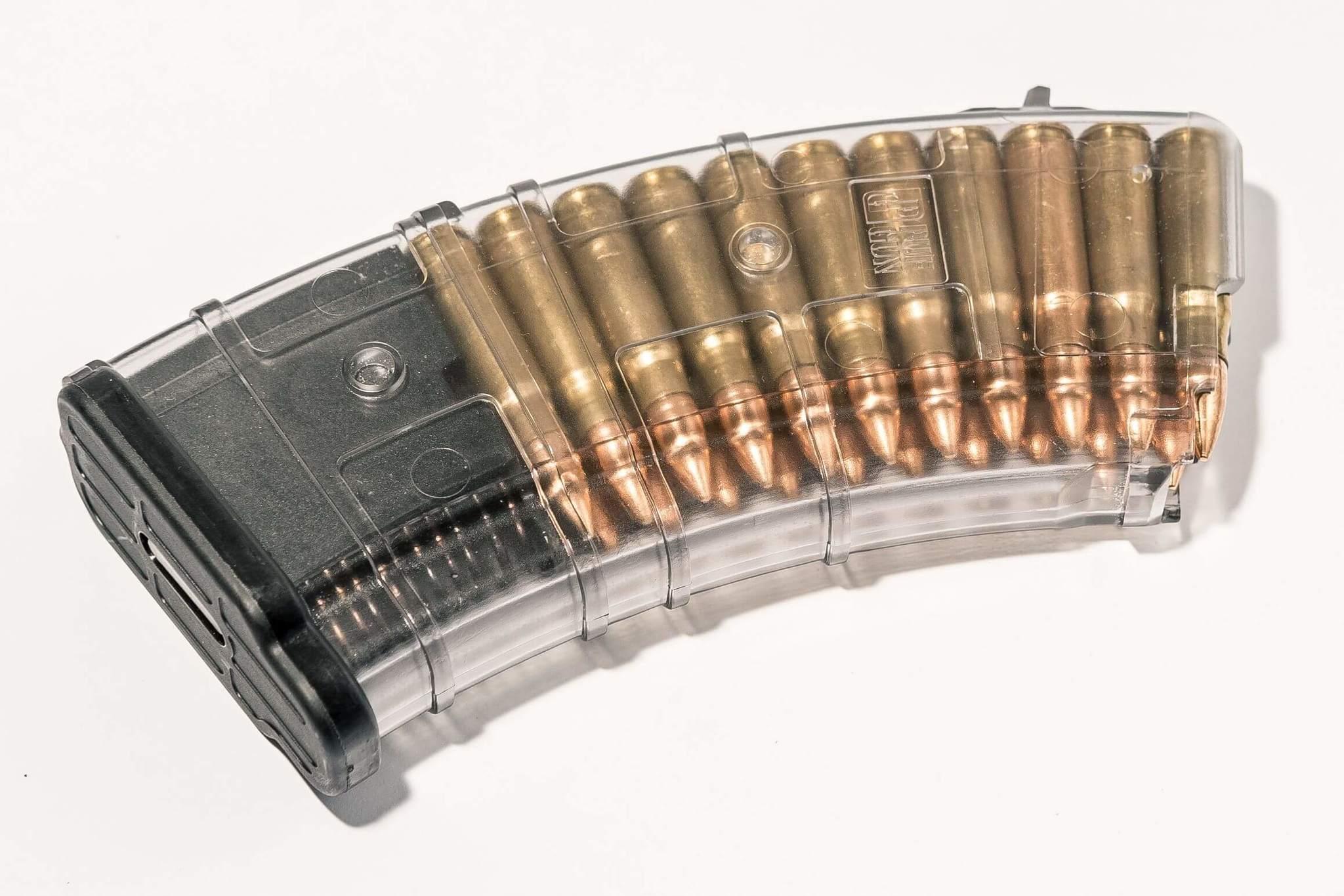 Магазин Pufgun для АКМ 7.62x39 ВПО-136 ВПО-209 на 20, прозрачный