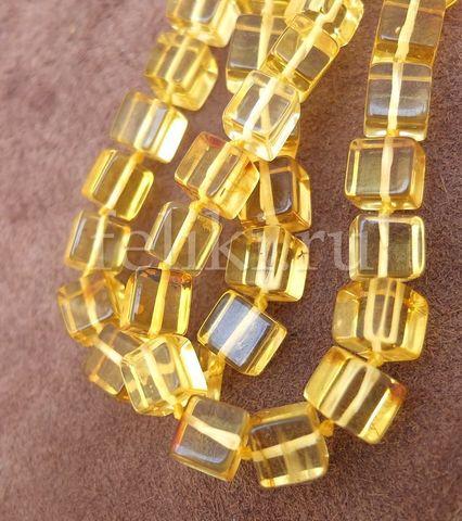 бусы кубы янтарные