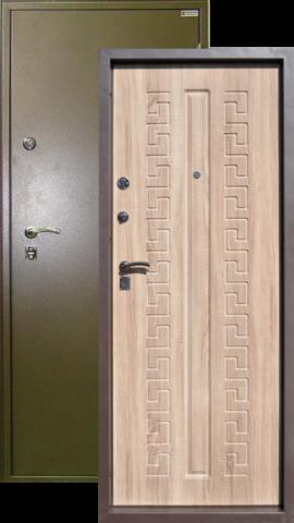 Сейф-дверь Город Мастеров Печора, 2 замка, 1,5 мм  металл (капучино+вяз рифлёный)