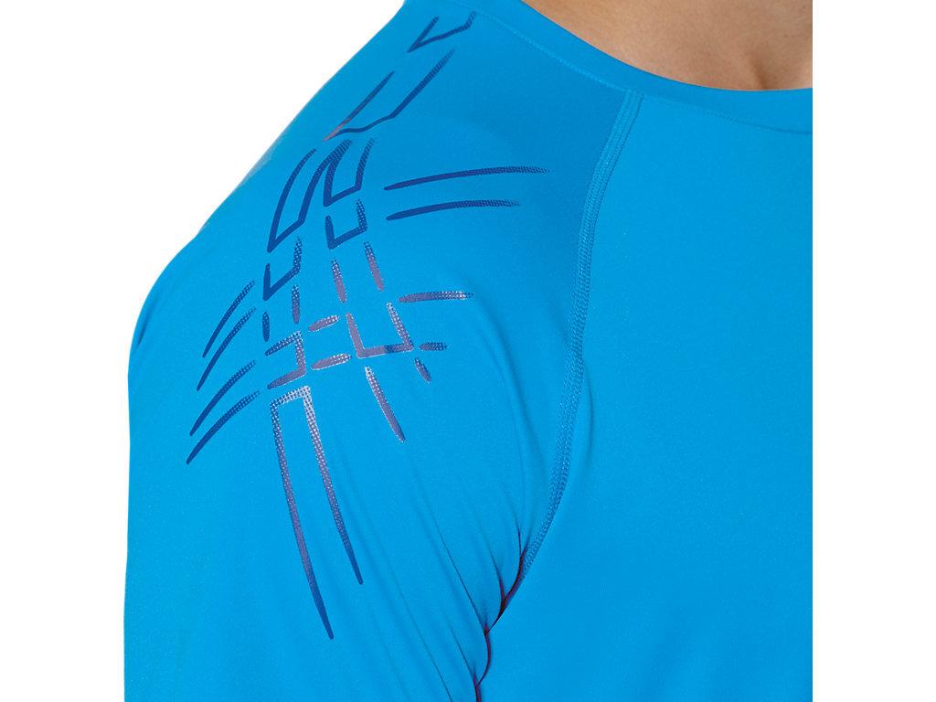 Мужская спортивная беговая футболка Asics Stripe SS Top (126236 0823)