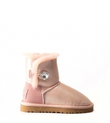 Угги для девочек UGG Kids Bailey Button Bling Glitter Rose