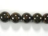 Бусина из бронзита, шар гладкий 12мм