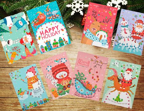 036-6608 Набор  8 открыток-аппликаций
