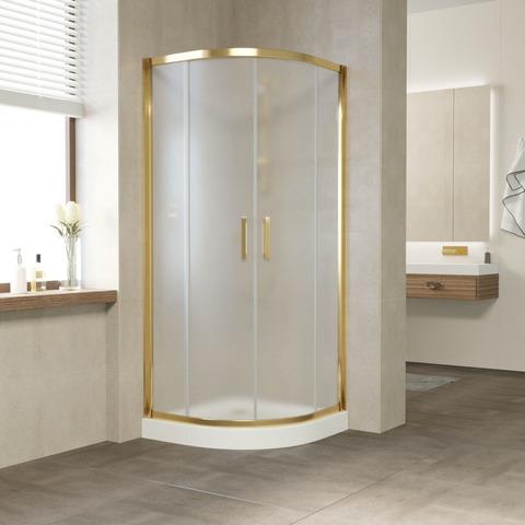 Душевой уголок Vegas Glass ZS профиль золото, стекло сатин