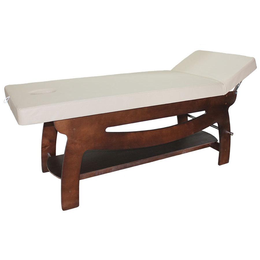 Стационарные массажные столы, кушетки косметолога Массажный стол Elefant 190х70см (RU) Массажный-стол-Элефант-венге-бежевый1.jpg