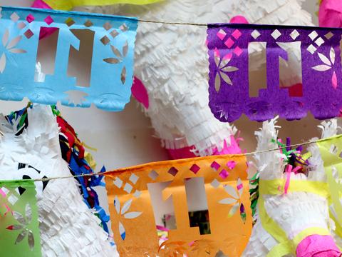 Мексиканская бумажная гирлянда