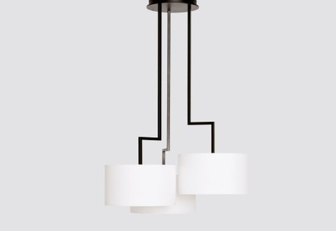 Chandelier Noon 3 by Zeitraum (white)