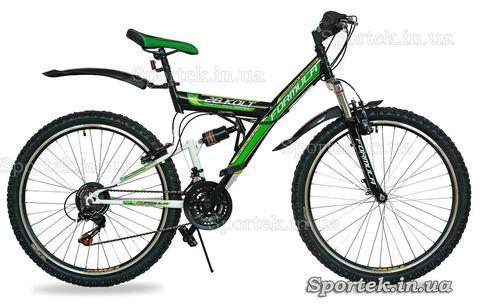 Горный универсальный велосипед Formula Kolt 2015 (Формула Кольт) черно-зеленый
