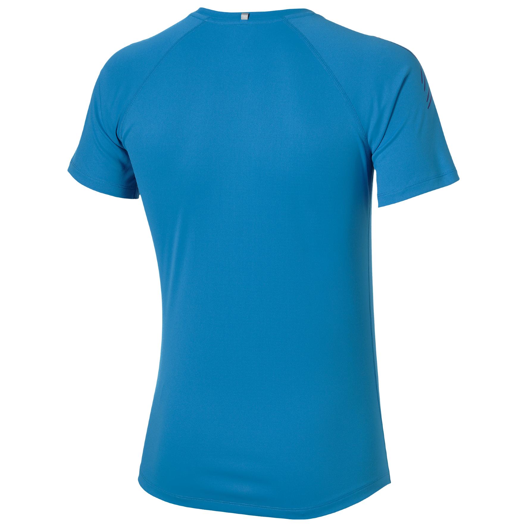 Мужская беговая одежда Asics Stripe SS (126236 0823) голубая