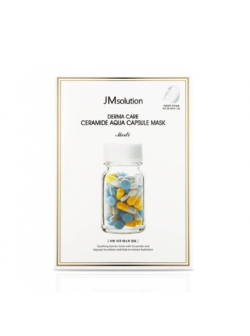 JMSOLUTION DERMA CARE CERAMIDE AQUA CAPSULE MASK/ ТКАНЕВАЯ МАСКА ДЛЯ ЛИЦА С КЕРАМИДАМИ