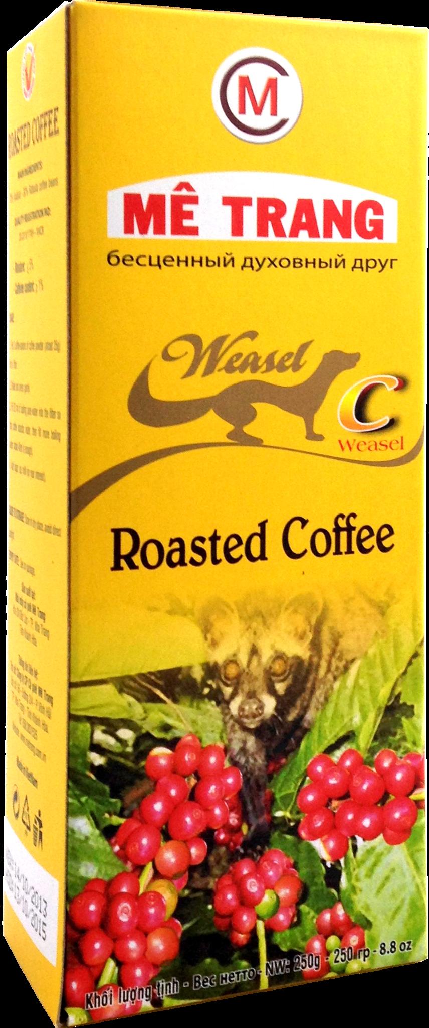 Молотый кофе Me Trang Chon, смесь 2-х сортов, Копи Лювак, 250 гр.