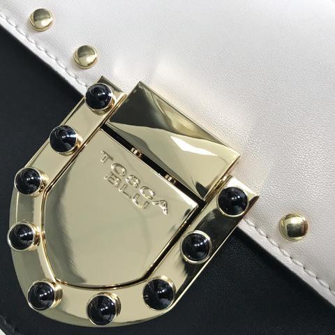 Кожаная сумка Tosca Blu Pollock Ivory, черный, Italy, фото 10