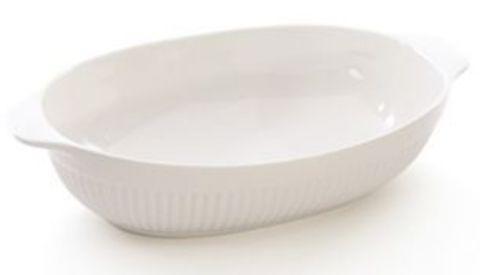 Блюдо овальное для запекания43х27х9cm Bianco