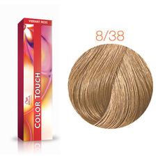 Wella Professional Color Touch 8/38 (Светлый блонд золотой жемчуг) тонирующая краска для волос 60 мл.
