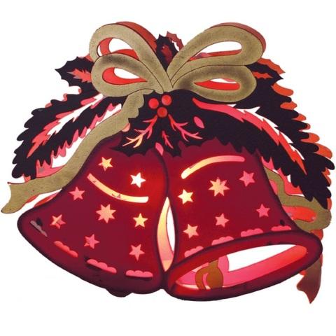 """Световая фигура """"Рождественские красные колокольчики"""", LT069"""