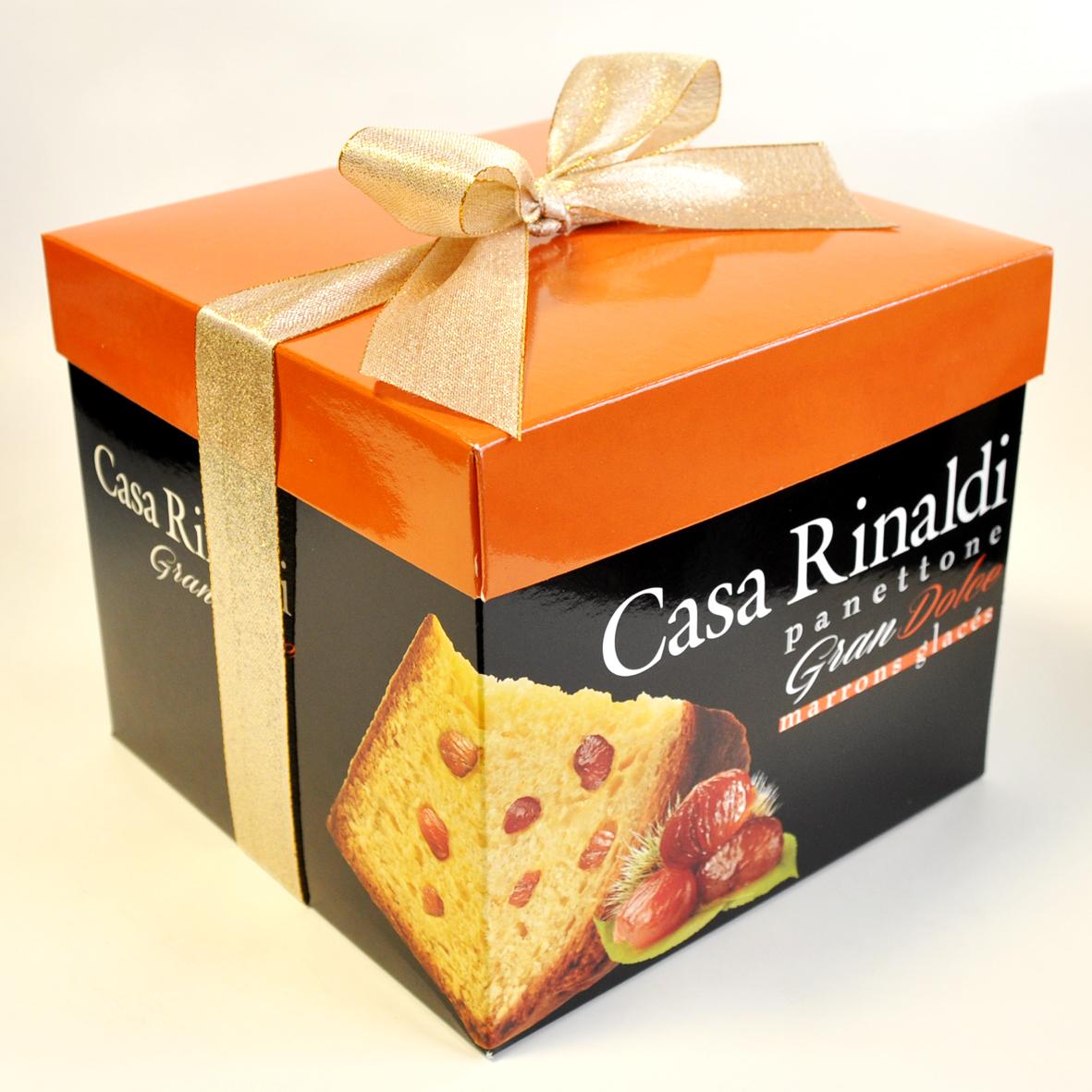 Кулич с кусочками сахарного каштана в подарочной коробке Casa Rinaldi 750г
