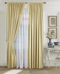 Комплект штор Лоран (золото). Шторы из стриженного бархата.