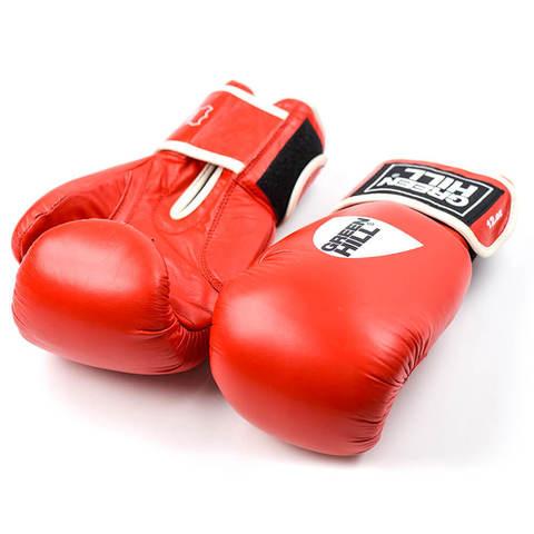 Перчатки боксерские, кожа, GYM BGG-2018, Green Hill
