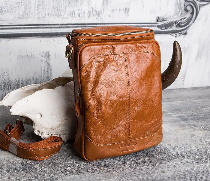 a5f3e8714d08 BAG412-3 Кожаная сумка с ремнем на плечо