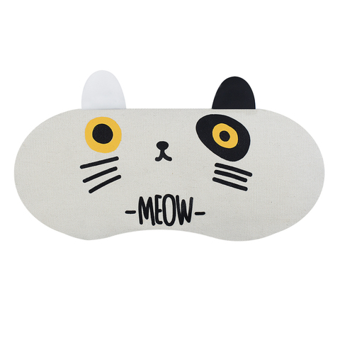 Маска для сна Cat White