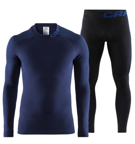 Craft Warm Intensity комплект термобелья мужской синий-черный
