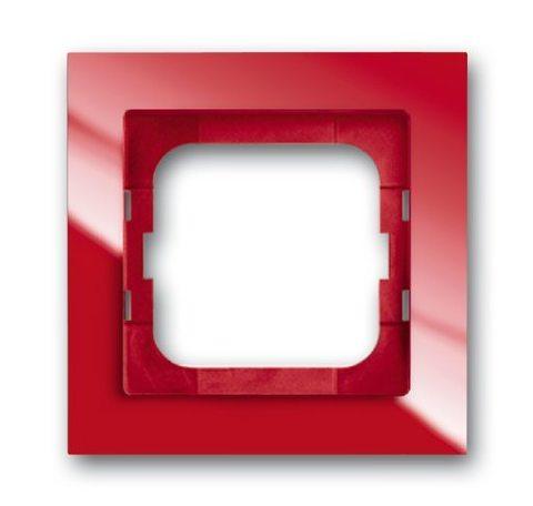 Рамка на 1 пост. Цвет Красный глянцевый. ABB(АББ). Axcent(Акcент). 1754-0-4340