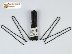 Шпильки для волос черные 60 мм