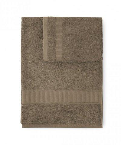 Набор полотенец 2 шт Caleffi Calypso коричневый