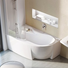 Ванна асимметричная 160х95 см Ravak Rosa 95 C571000000 фото