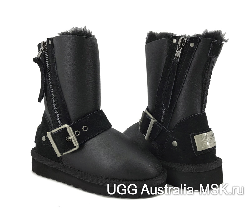 UGG Kids Classic Short Blaise Metallic Black
