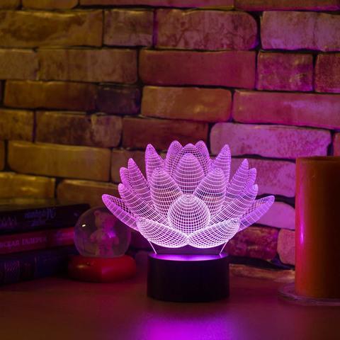 3D светильник Лотос
